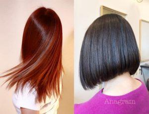 二子新地の美容室Anagramの艶髪