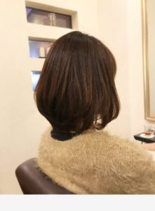 二子新地の美容室Anagramの女性モデル